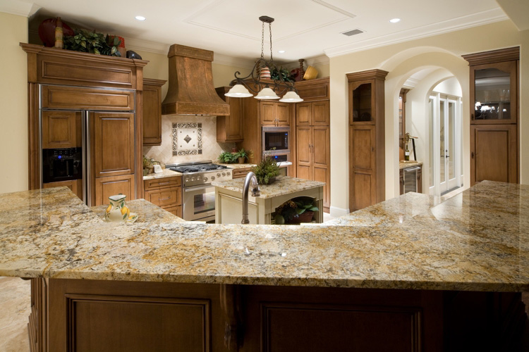 custom kitchen area built by Einheit home builders in Orlando