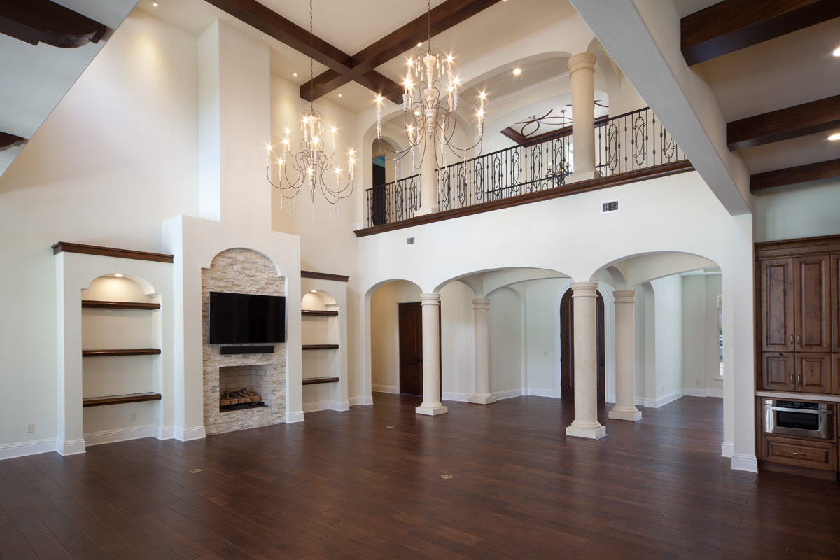 elegant interior of remodeled home built by Einheit Homes