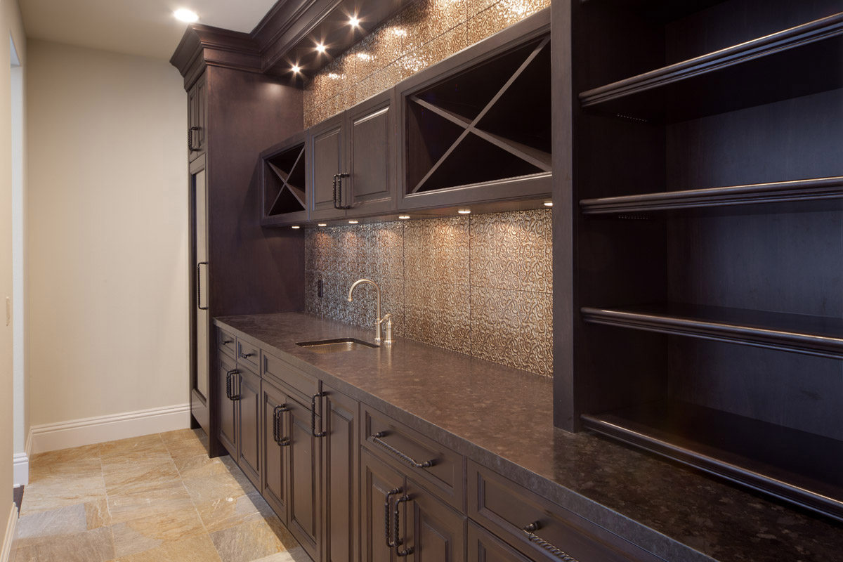 custom wooden cabinet kitchen area designed by Einheit home builders