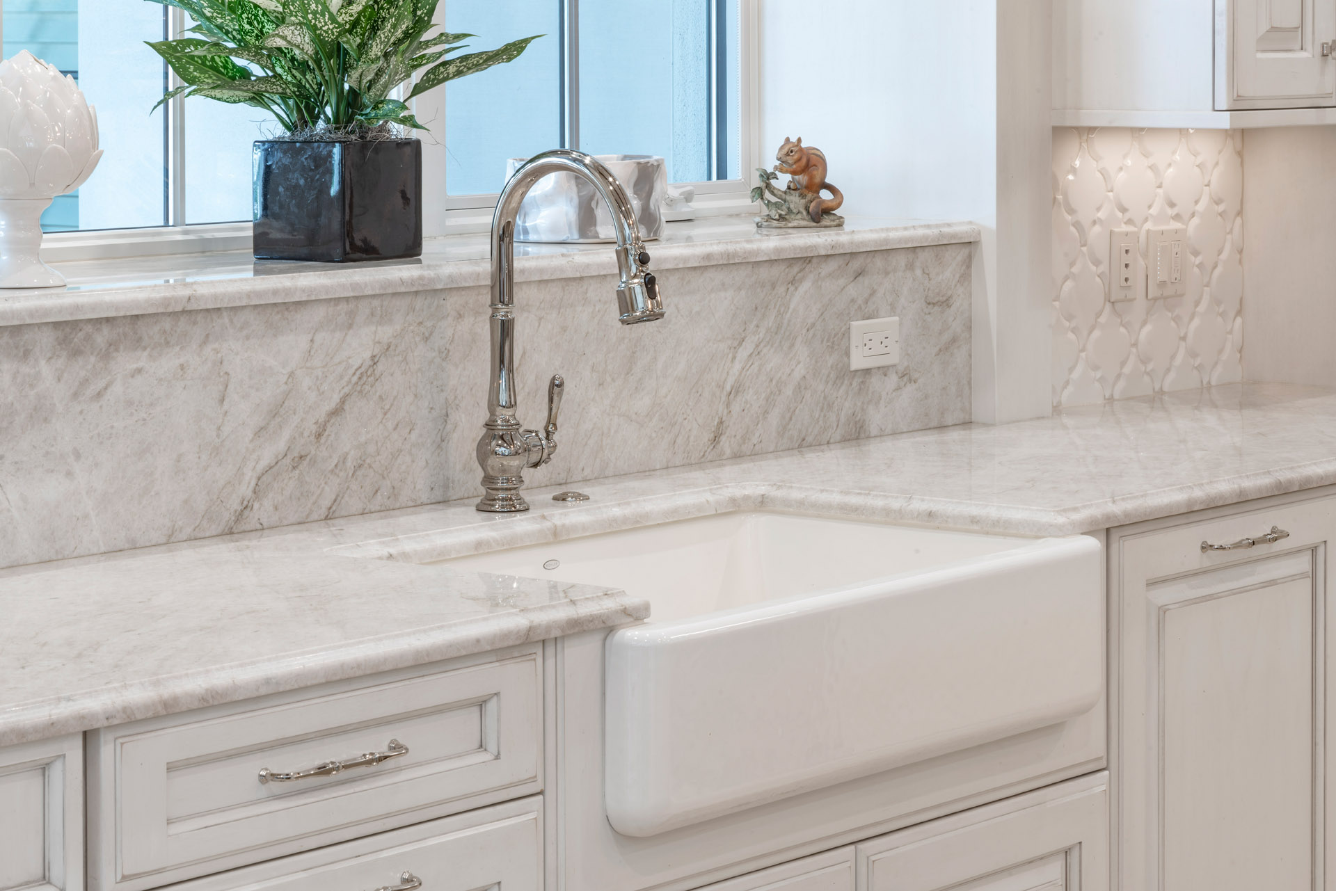 custom bathroom counter and sink designed and built by Einheit Homes