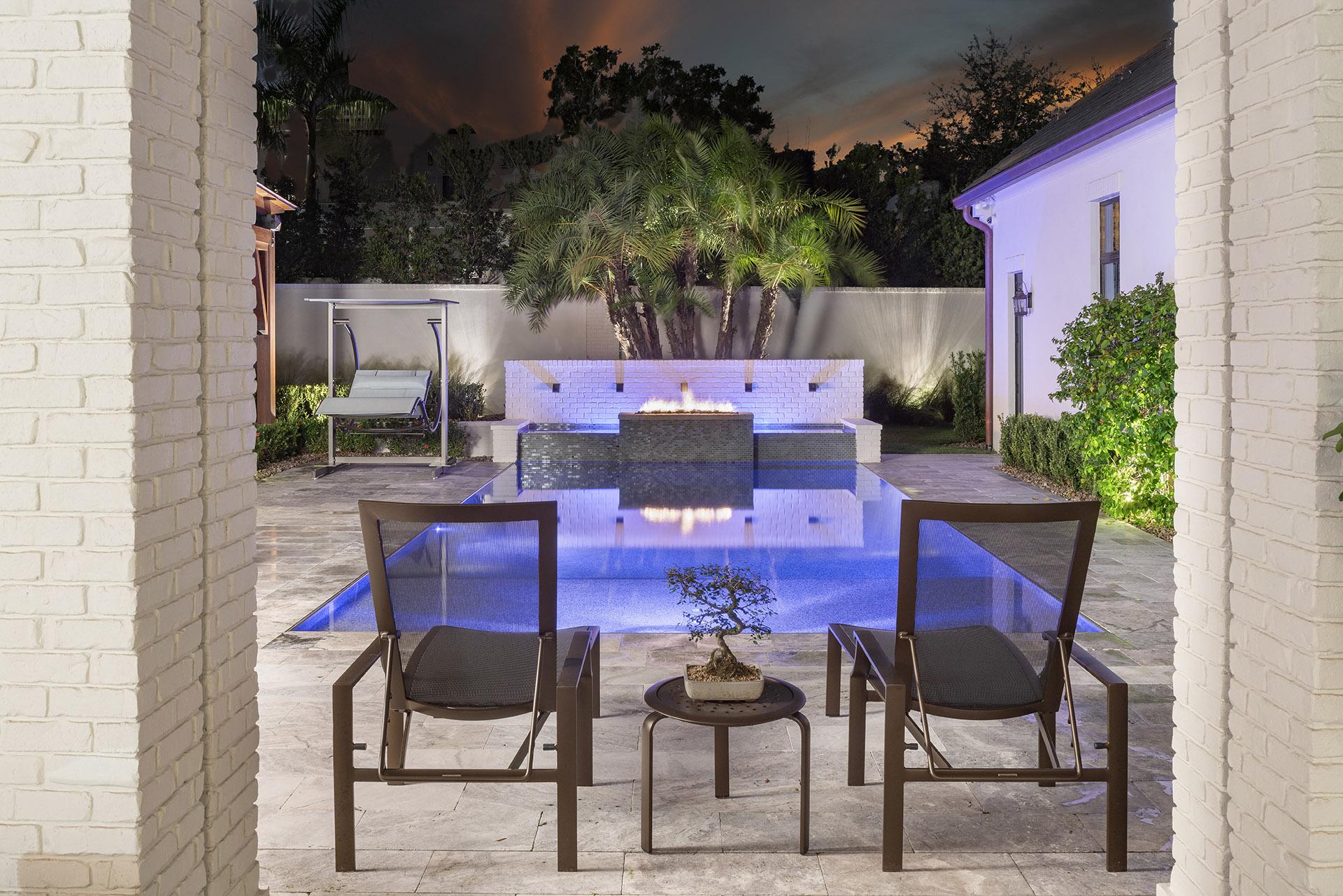 pool design by custom home builder Einheit Homes