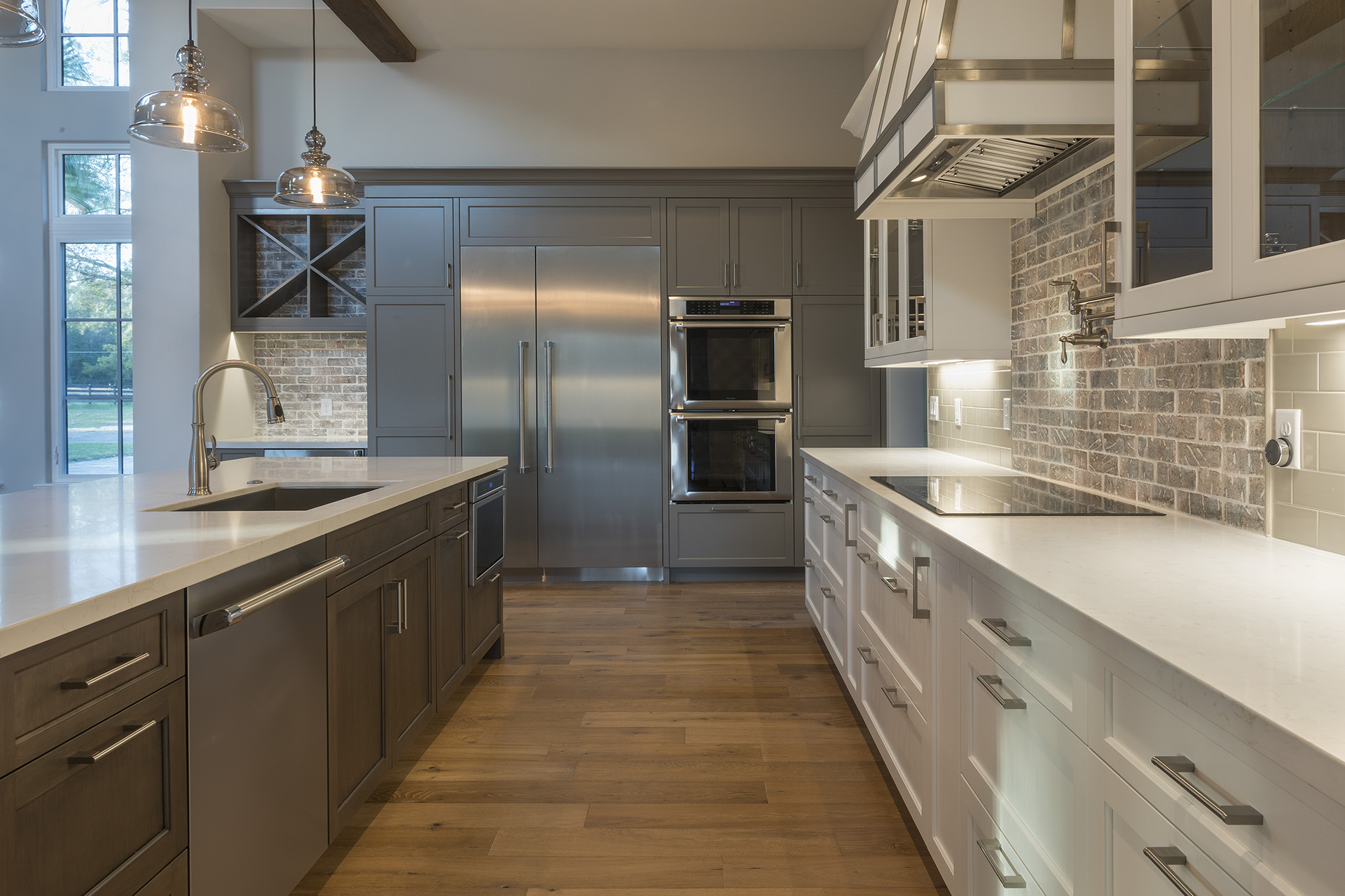custom kitchen design in remodeled home by Einheit custom home builders