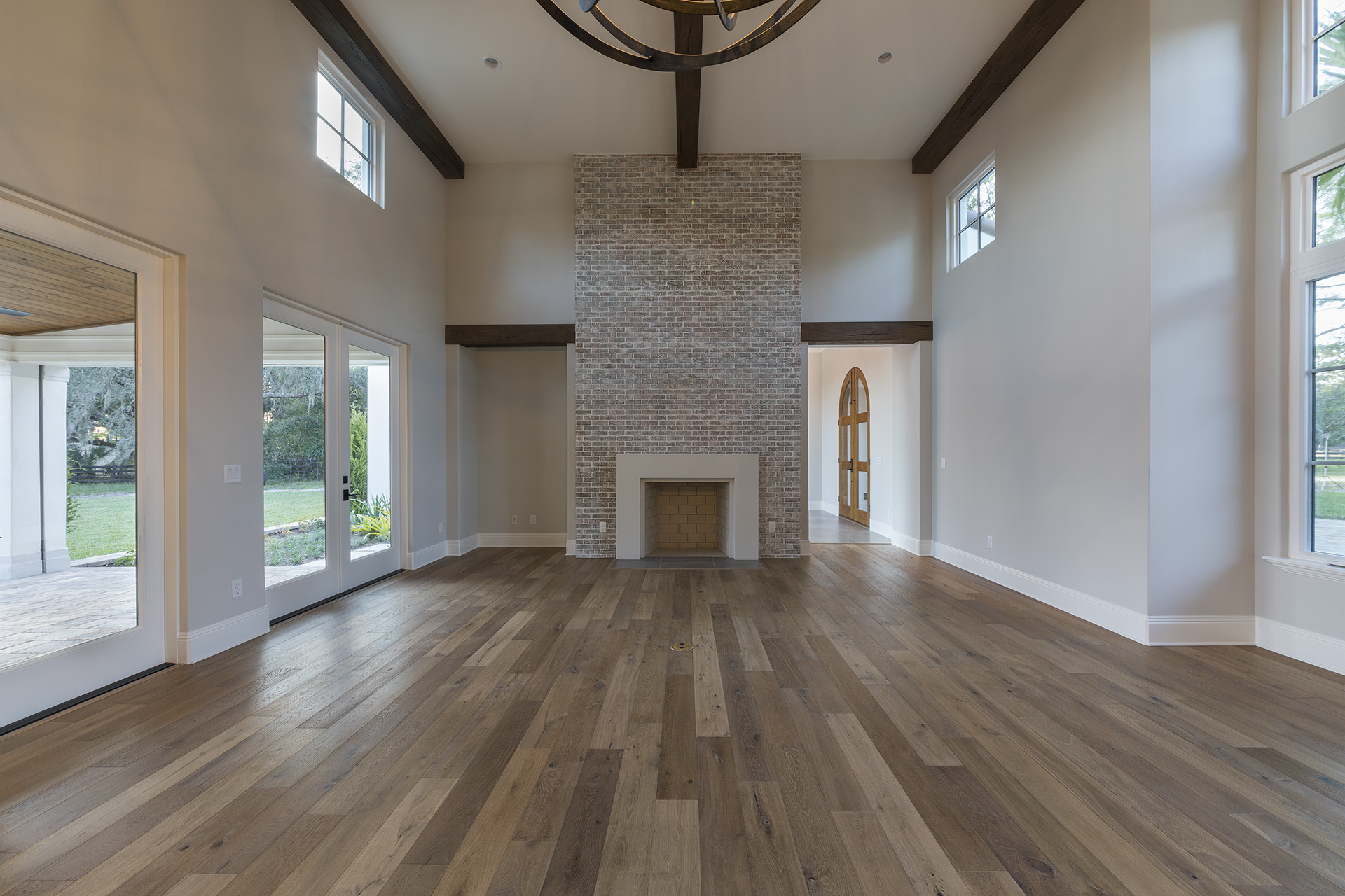 custom home remodel with fireplace by Einheit Homes