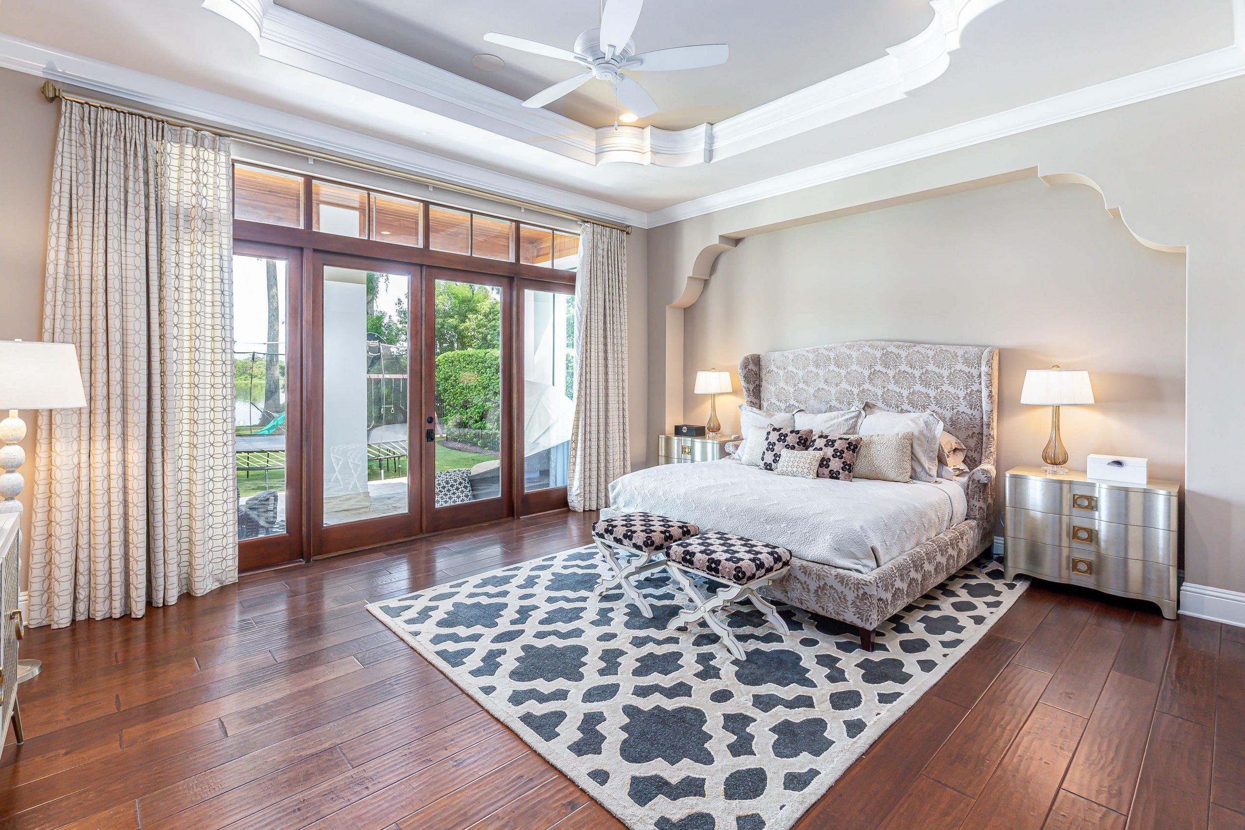 bedroom in custom home built by Einheit home builders in Orlando