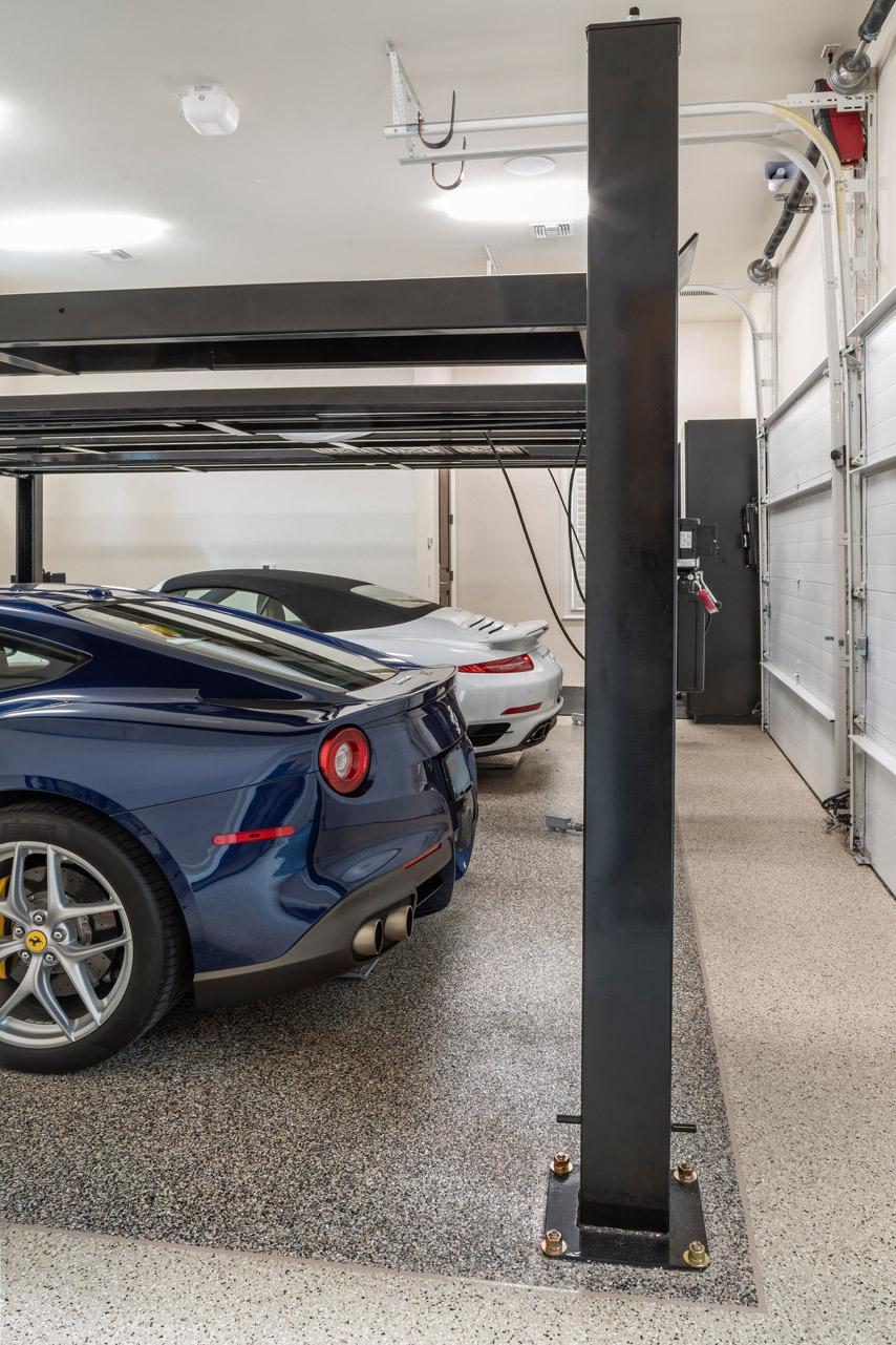 custom car garage built by custom home builder Einheint Homes