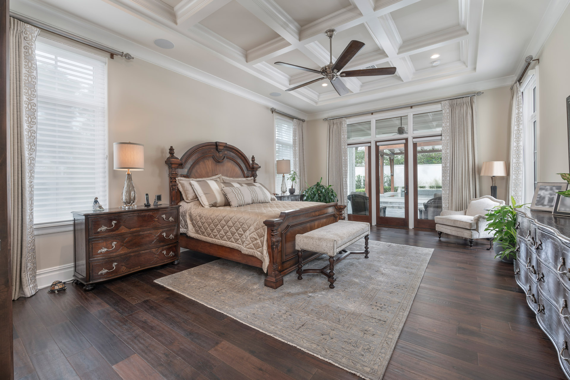 bedroom in custom residential home remodeled by Einheit home builders