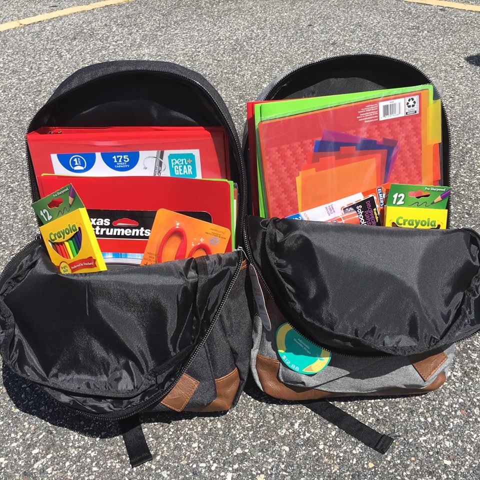 backpacks for the Back-to-School Backpack Drive benefiting The Children's Home Society of Florida